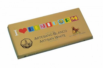 Tableta de chocolate blanco I love Benidorm 100g
