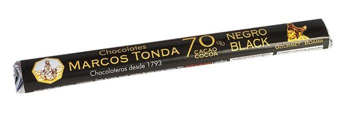 Chocolatina de chocolate negro