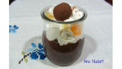 Vasitos de Chocolate Marcos Tonda Con Nata y Naranja