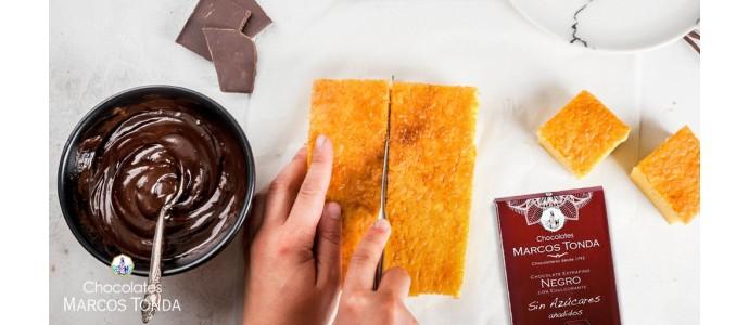 Receta: Cuadraditos de coco con chocolate rellenos