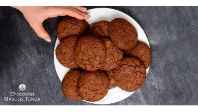 Galletas sin azúcar de chocolate negro y avena