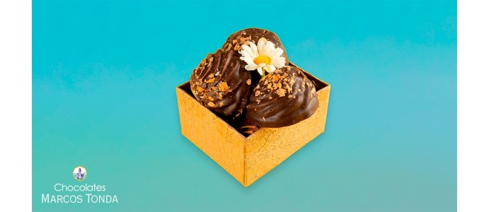 ¿Cómo preparar bombones de chocolate negro?